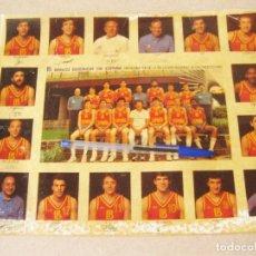 Coleccionismo deportivo: CARTEL PEGATINA DE LA SELECCIÓN NACIONAL DE BALONCESTO DE 1985 - BANCO EXTERIOR DE ESPAÑA. Lote 186429696
