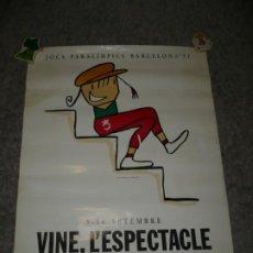 Coleccionismo deportivo: JOCS PARALIMPICS BARCELONA ,92 3-14 SETEMBRE 1990 VOOB'92.S.A. POR MARISCAL. Lote 189234685