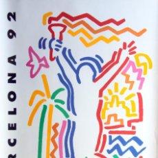 Coleccionismo deportivo: BARCELONA 92:SERIE DISEÑADORES COMPLETA:18 POSTERS COOB'92 (SPONSORED TELEFONICA)-50X70CM-MUY ESCASA. Lote 189717037