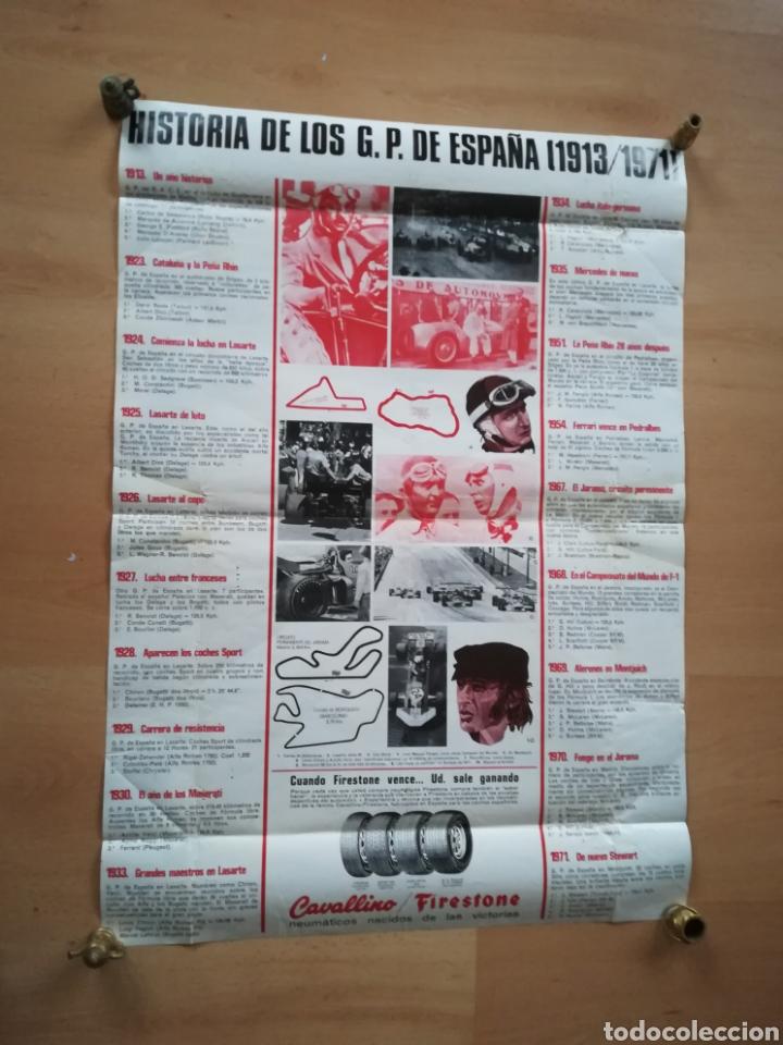 Coleccionismo deportivo: Cartel del GRAN PREMIO DE ESPAÑA DE FORMULA 1. Año 1972. - Foto 2 - 189826836