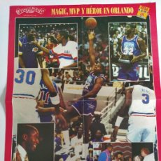 Coleccionismo deportivo: PÓSTER NBA ALL-STAR ORLANDO'92 (GIGANTES DEL BASKET) - MAGIC JOHNSON, CEDRIC CEBALLOS. Lote 189956738