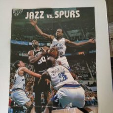 Coleccionismo deportivo: PÓSTER GIGANTE JAZZ VS. SPURS - NBA PLAYOFFS 1998 (REVISTA OFICIAL NBA). Lote 189967905