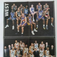 Coleccionismo deportivo: PÓSTER NBA ALL STAR 2000 - WEST & EAST. Lote 190095506