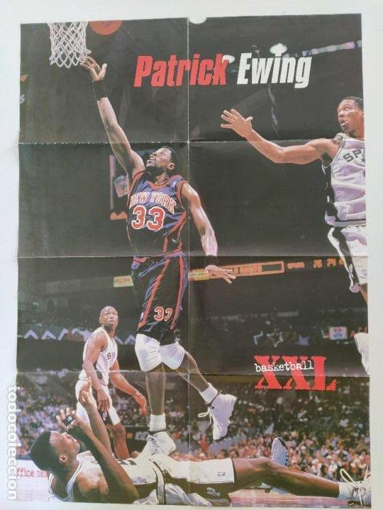 Coleccionismo deportivo: LOTE 13 PÓSTERS GIGANTES NBA AÑOS 90/00 (REVISTA XXL BASKET) - KOBE BRYANT, GARNETT, EWING, CARTER.. - Foto 4 - 190095851