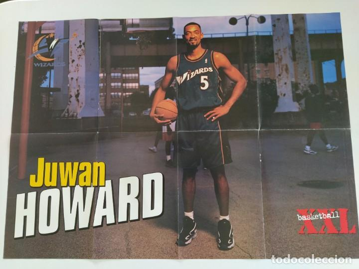 Coleccionismo deportivo: LOTE 13 PÓSTERS GIGANTES NBA AÑOS 90/00 (REVISTA XXL BASKET) - KOBE BRYANT, GARNETT, EWING, CARTER.. - Foto 12 - 190095851