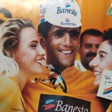 Coleccionismo deportivo: PÓSTER DE MIGUEL INDURÁIN EQUIPO BANESTO. AÑOS 90. Lote 190103806