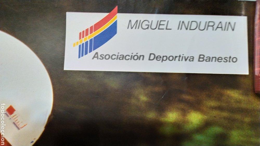 Coleccionismo deportivo: PÓSTER DE MIGUEL INDURÁIN EQUIPO BANESTO. AÑOS 90 - Foto 5 - 190104066