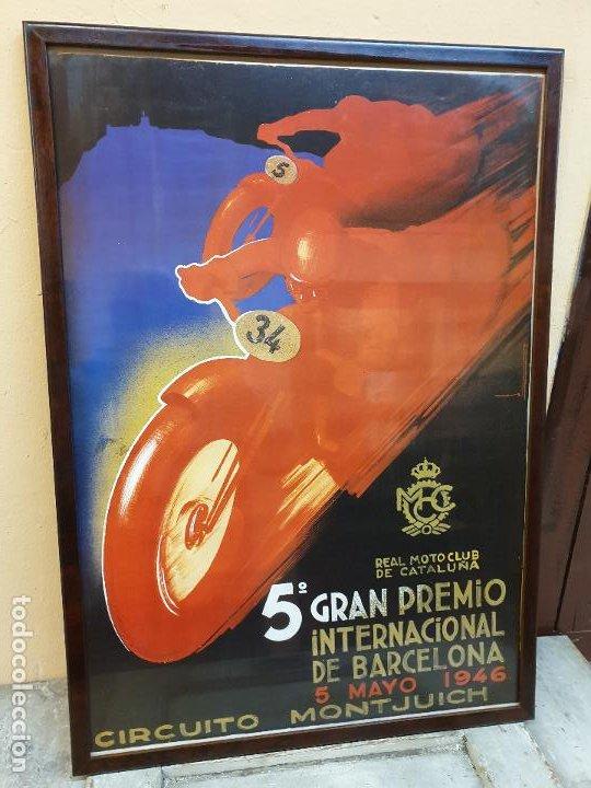 5º GRAN PREMIO, CIRCUITO DE MONTJUICH 1946 (Coleccionismo Deportivo - Carteles otros Deportes)