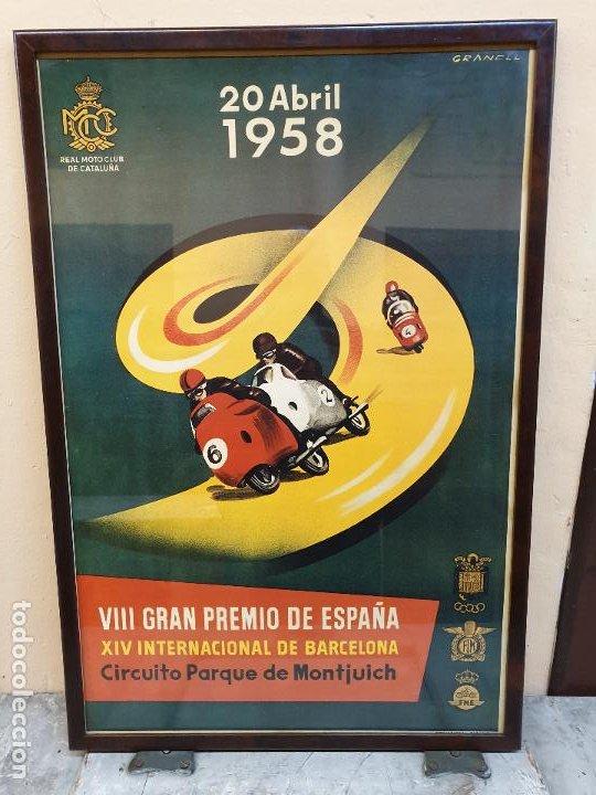 GRAN PREMIO DE ESPAÑA, CIRCUITO DE MONTJUICH 1958 (Coleccionismo Deportivo - Carteles otros Deportes)