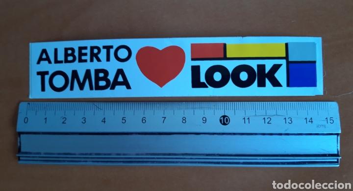 PEGATINA ESQUI DE ALBERTO TOMBA AÑOS 90 LOOK (Coleccionismo Deportivo - Carteles otros Deportes)
