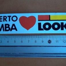 Coleccionismo deportivo: PEGATINA ESQUI DE ALBERTO TOMBA AÑOS 90 LOOK. Lote 241660370