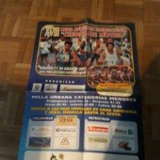 Coleccionismo deportivo: CARTEL DEL XVIII MEDIA MARATÓN INTERNACIONAL CIUDAD DE MOTRIL. AÑO 2001 - 62 X 40 CM APROX. Lote 190528446