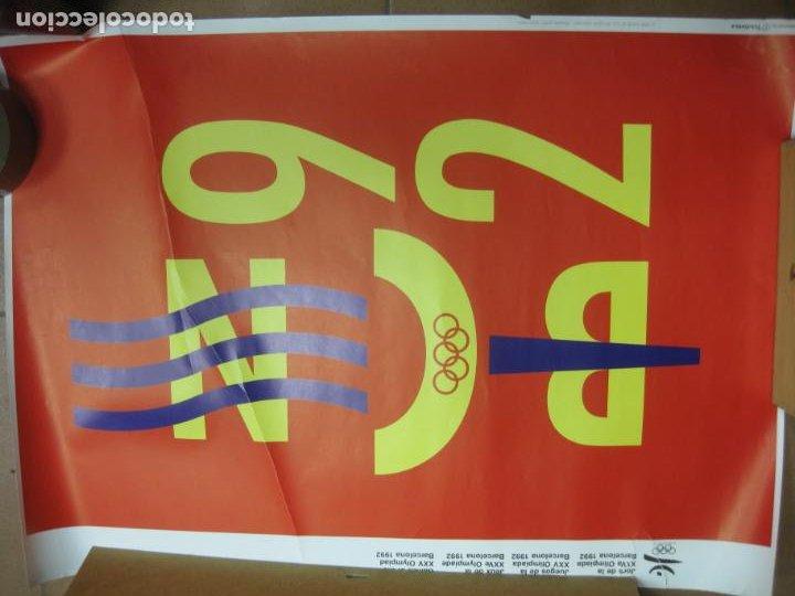 CARTEL JUEGOS OLIMPICOS BARCELONA 92. QUIM NOLLA. 70 X 48 CM. (Coleccionismo Deportivo - Carteles otros Deportes)