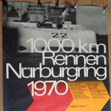 Coleccionismo deportivo: ANTIGUO CARTEL / POSTER ORIGINAL PORSCHE 1000 KM DE NÜRNBURGRING 1970. 101CM X 76CM.. Lote 191105658