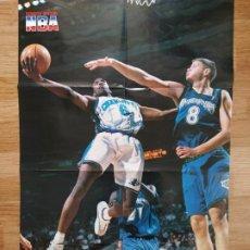 Coleccionismo deportivo: PÓSTER GIGANTE EDDIE JONES (REVISTA OFICIAL NBA). Lote 193449257