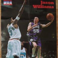 Coleccionismo deportivo: PÓSTER GIGANTE JASON WILLIAMS (REVISTA OFICIAL NBA). Lote 193449532
