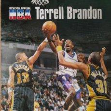 Coleccionismo deportivo: PÓSTER GIGANTE TERREL BRANDON (REVISTA OFICIAL NBA). Lote 193449566