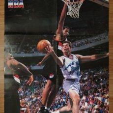 Coleccionismo deportivo: PÓSTER GIGANTE JOHN STOCKTON (REVISTA OFICIAL NBA). Lote 193449637