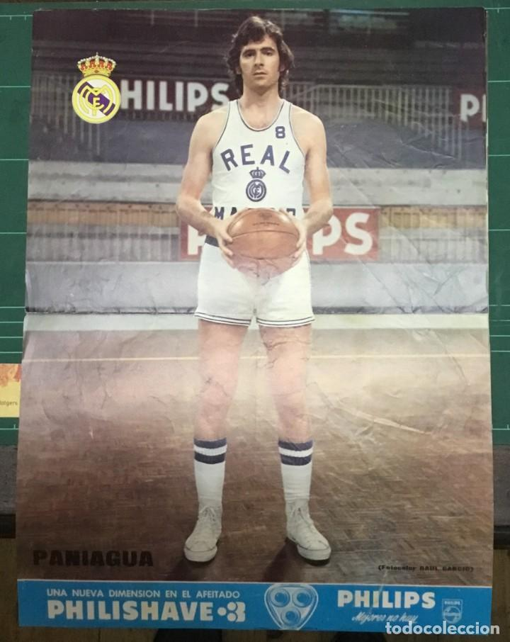 Coleccionismo deportivo: LOTE 3 POSTERS A COLOR - BALONCESTO - REAL MADRID - Emiliano, Paniagua y Luyk - DIN A3 - Foto 1 - 194779616