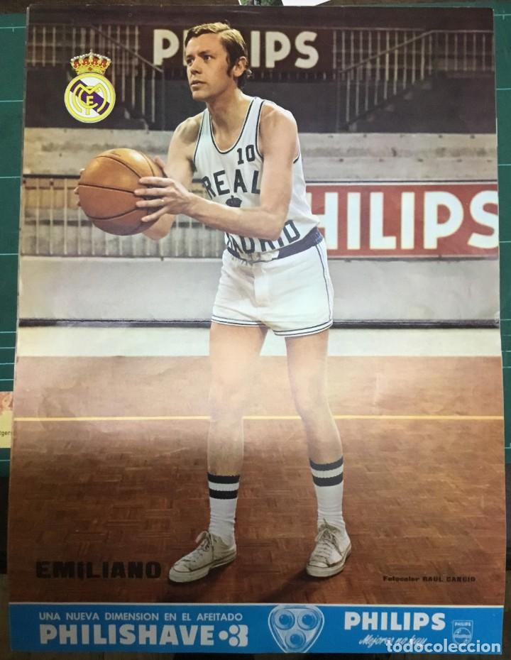 Coleccionismo deportivo: LOTE 3 POSTERS A COLOR - BALONCESTO - REAL MADRID - Emiliano, Paniagua y Luyk - DIN A3 - Foto 3 - 194779616