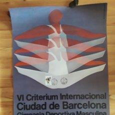 Coleccionismo deportivo: VI CRITERIUM INTERNACIONAL BARCELONA GIMNASIA DEPORTIVA MASCULINA 1974 DISEÑO PEDRO ARIÑO. Lote 194945028