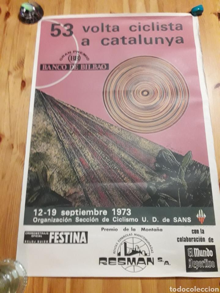 CARTEL 53 VOLTA CICLISTA CATALUNYA 1973 CICLISMO MUNDO DEPORTIVO THARRATS (Coleccionismo Deportivo - Carteles otros Deportes)