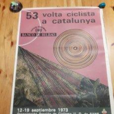 Coleccionismo deportivo: CARTEL 53 VOLTA CICLISTA CATALUNYA 1973 CICLISMO MUNDO DEPORTIVO THARRATS. Lote 194968678
