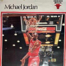 Coleccionismo deportivo: PÓSTER CARTEL MICHAEL JORDAN CHICAGO BULLS DE LA REVISTA SPORTS ILLUSTRATED ORIGINAL AÑOS 80-90. Lote 195002948