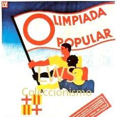 Coleccionismo deportivo: OLIMPIADA POPULAR 1936 BARCELONA - PUBLICIDAD IMÁGENES - DEPORTES. Lote 195433537
