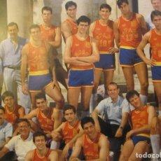 Coleccionismo deportivo: POSTER SELECCIÓN ESPAÑOLA BALONCESTO 1988. Lote 195849355