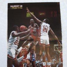Coleccionismo deportivo: POSTER NBA REVISTA BASKET 16 . AÑOS 80. MICHAEL JORDAN.. Lote 197182330