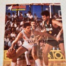 Coleccionismo deportivo: POSTER NBA REVISTA ESTRELLAS DEL BASKET . AÑOS 80.DRAZEN PETROVIC.. Lote 197202121