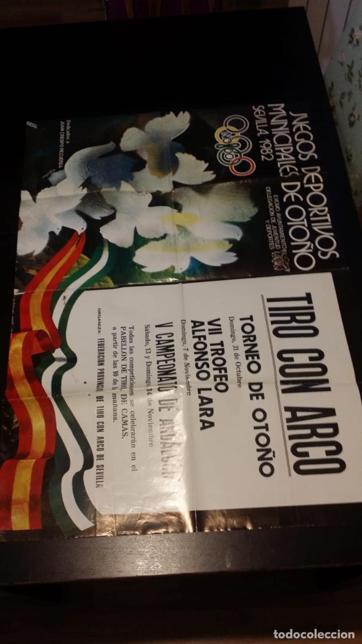 JML CARTEL JUEGOS DEPORTIVOS OTOÑO SEVILLA 1982 TIRO CON ARCO DOMINGO 31 OCTUBRE 97X69 CM VER (Coleccionismo Deportivo - Carteles otros Deportes)