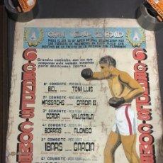 Coleccionismo deportivo: (M) CARTEL BOXEO DIBUJO ORIGINAL - DIA 30 MAYO 1941 FUERZAS DE INGENIERO, FIESTA SAN FERNANDO. Lote 198204183