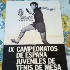 Coleccionismo deportivo: CARTEL CTO.ESPAÑA AÑO 1972. Lote 198723435