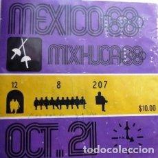 Coleccionismo deportivo: VINTAGE BOLETO DE ESGRIMA DE LAS OLIMPIADAS DE MÉXICO 68 . Lote 199071905