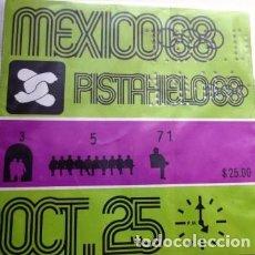 Coleccionismo deportivo: VINTAGE BOLETO DE LAS OLIMPIADAS DE MÉXICO 68. Lote 199072686
