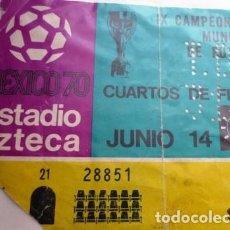 Coleccionismo deportivo: VINTAGE BOLETO DE FÚTBOL MÉXICO 70. Lote 199073106