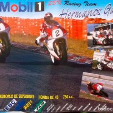 Coleccionismo deportivo: CAMPEONATO EUROPEO DE SUPERBIKES CON LOS HERMANOS GAVIRA. Lote 199314360