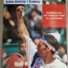 Coleccionismo deportivo: PÓSTER KARHU ,JORDI ARRESE ,XXTROFEO VILLA DE MADRID , AÑOS 1990. Lote 199351287