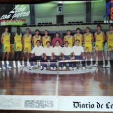 Coleccionismo deportivo: POSTER C.B. LEON ELOSUA - ACB 1991- 92 - BASKET BALONCESTO - . Lote 200060480