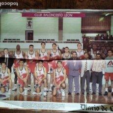 Coleccionismo deportivo: POSTER C.B. BALONCESTO LEON - ACB 1993- 94 - BASKET - . Lote 200060660