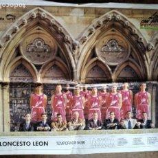 Coleccionismo deportivo: POSTER C.B. BALONCESTO LEON - ACB 1994- 95 - BASKET - . Lote 200060825