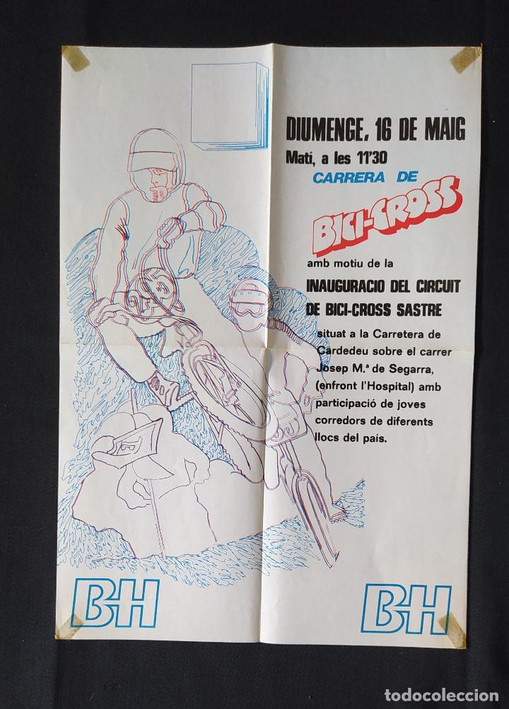 CARTEL O POSTER BICI CROSS BH - INAUGURACIÓ CIRCUIT BICI CROSS SASTRE 1982 (Coleccionismo Deportivo - Carteles otros Deportes)