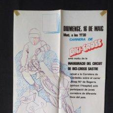 Coleccionismo deportivo: CARTEL O POSTER BICI CROSS BH - INAUGURACIÓ CIRCUIT BICI CROSS SASTRE 1982. Lote 200373008