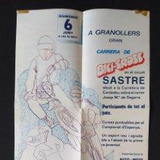 Coleccionismo deportivo: CARTEL O POSTER BICI CROSS BH - CIRCUIT BICI CROSS SASTRE 1982. Lote 200373372