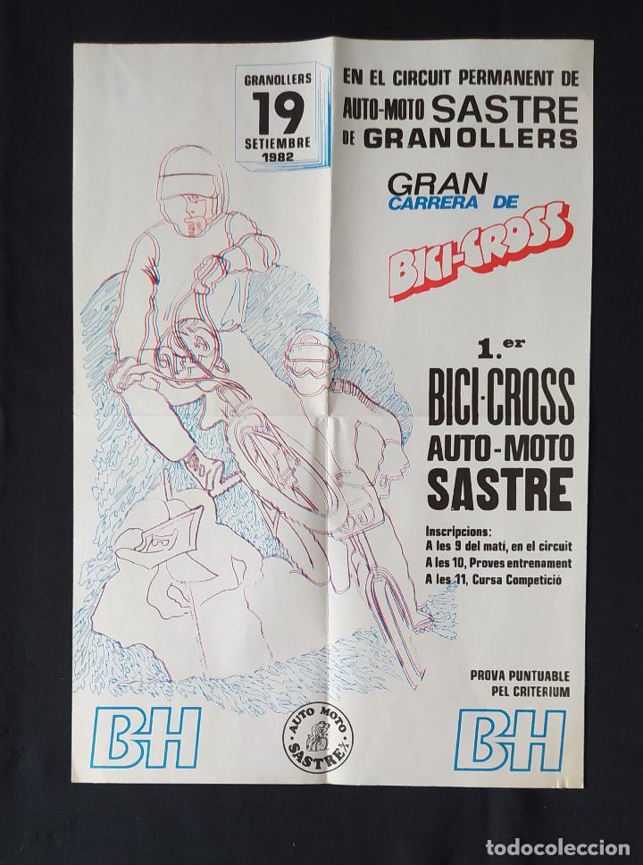 CARTEL O POSTER BICI CROSS BH - 1ER BICI CROSS AUTO MOTO SASTRE 1982 (Coleccionismo Deportivo - Carteles otros Deportes)