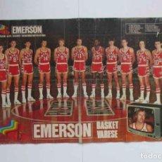 Coleccionismo deportivo: CARTEL POSTER EMERSON BASKET VARESE. Lote 200511673