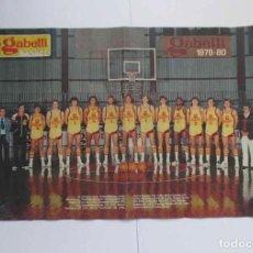 Coleccionismo deportivo: CARTEL POSTER: GABETTI BASKET. Lote 200511853