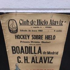 Coleccionismo deportivo: POSTER CARTEL HOKEY SOBRE HIELO ANTIGUO. Lote 200538258